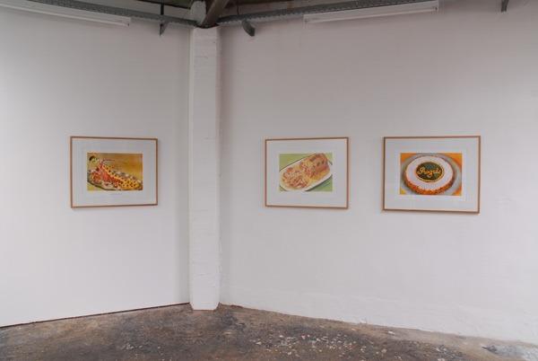 Damien Berthier, Langouste en bellevue à la parisienne , Galantine de volaille & Progrès, 2010, Sérigraphie, 65 x 50 cm