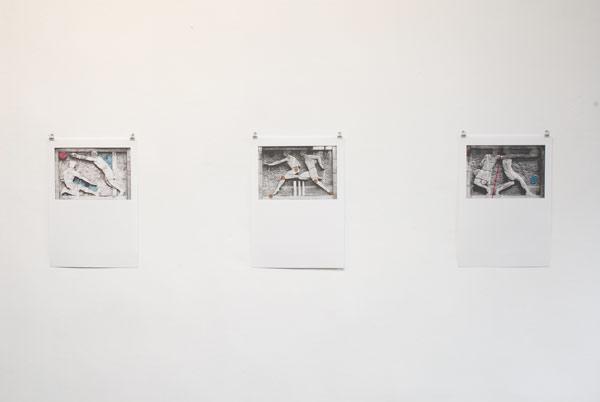 FILIP VAN DINGENEN, Pre-lliminary sketches for 7 bas reliefs Oscar de Clerck, rizo/inktjet print