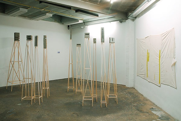NICOLAS BOURTHOUMIEUX, exhibition view Division, 2014, Rectangle, Brussels