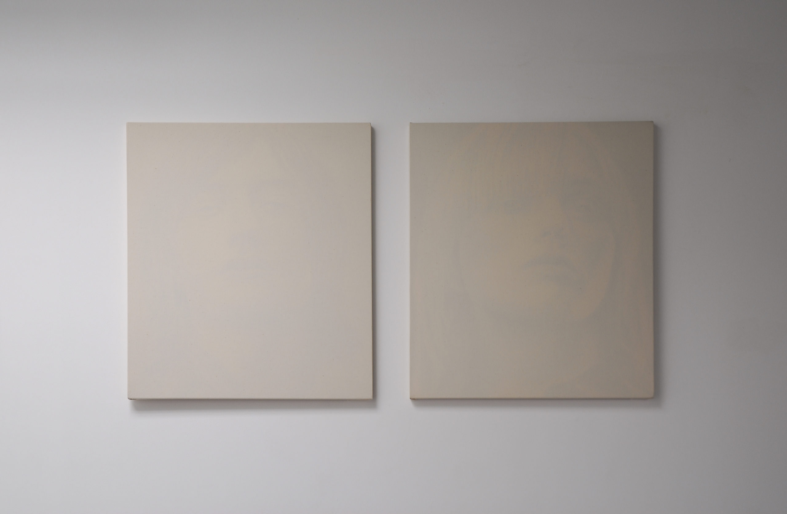 Peter Scott, Untitled (Model #2), 2008, acrylic on reverse of cotton, 66 x 56 cm – Untitled (Model #3), 2008, acrylic on reverse of cotton, 66 x 56 cm