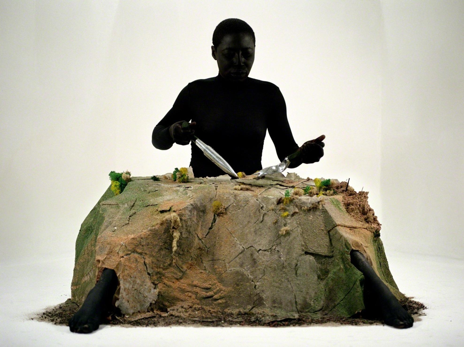 "Otobong Nkanga, ""Alterscape Playground (E)"" (2005-2015), C-print on aluminium, 19 7/10 × 26 2/5 inches (courtesy the artist and Lumen Travo Gallery, Amsterdam)"